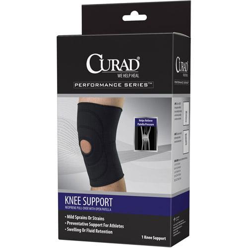 Medline CURAD Open-Patella Knee Supports,Black,Medium ORT23200MDH