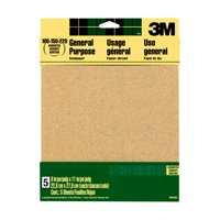 3M Aluminum Oxide Sandpaper, 9 in. x 11 in., Assorted Grits, 5 Sheets