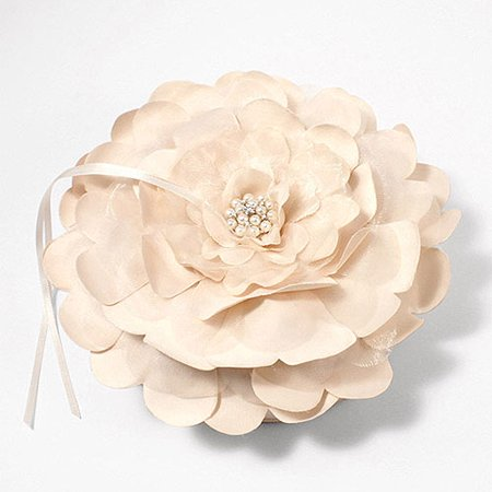 - Sensational Floral Wedding Ring Bearer Pillow in Ivory