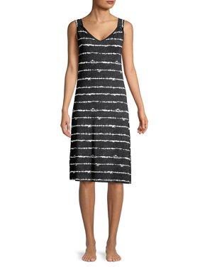 Printed V-Neck Lounge Dress