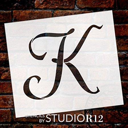 Monogram Embosser (Graceful Monogram Stencil - K - 10