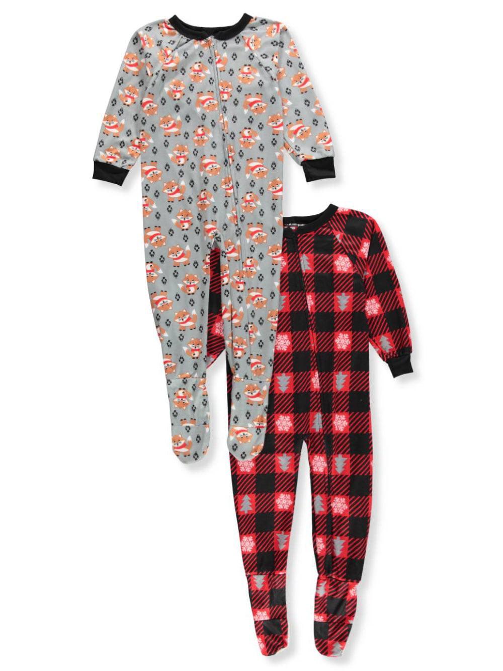 Mac Henry Boys' 2-Pack 1-Piece Footed Pajamas