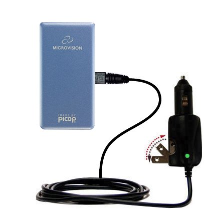 Intelligent Dual Purpose Dc Vehicle And Ac Home Wall Charger Suitable For The Microvision Showwx Laser Pico   Two Critical Functions  One Unique Charg