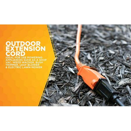 Woods 723 50-Foot General Purpose Extension Cord, 16/2 SJTW Medium Duty, Orange