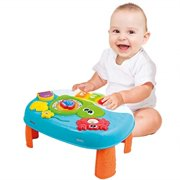 Activity Table for 1 Year Old and Up. 2-in-1 Baby Activity Center. Interactive Learning Toy Piano with Fun Ocean Characters for