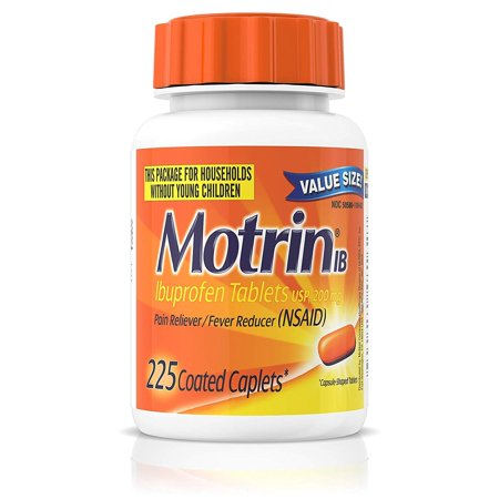 Motrin IB, Ibuprofen 200mg Tablets for Fever, Muscle Aches, Headache & Back Pain Relief, 225