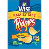 Wise Ridgies Original Ridged Potato Chips, 15 Oz.