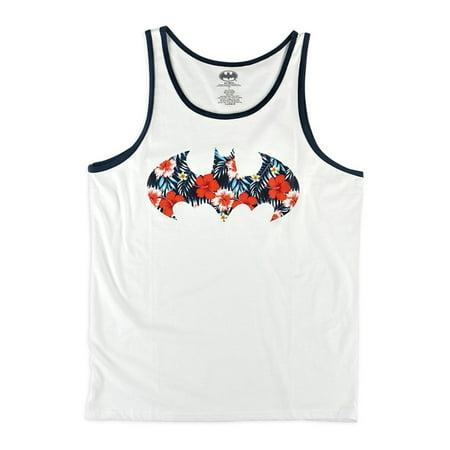 ca43f1d37a7b8 DC Comics - Dc Comics Mens Floral Batman Tank Top - Walmart.com