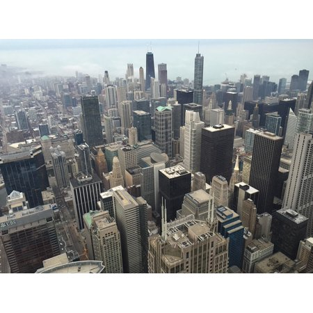 Canvas Print Skyline Chicago City Illinois Downtown Cityscape Stretched Canvas 10 x - Halloween Parties In Downtown Chicago