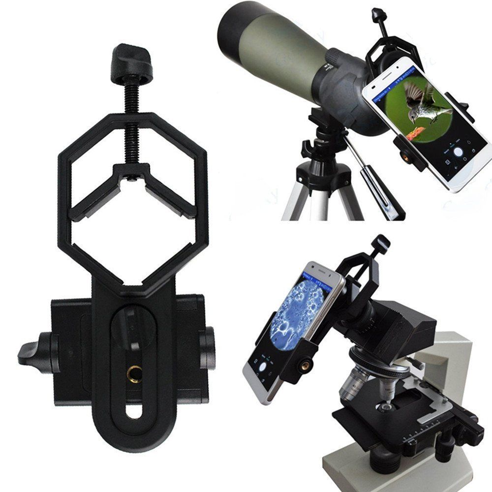 360° Univesal Cell microscope camera adapter Phone Holder Mount Camera Adapter for Telescope Binocular Microscope Spotting Scope