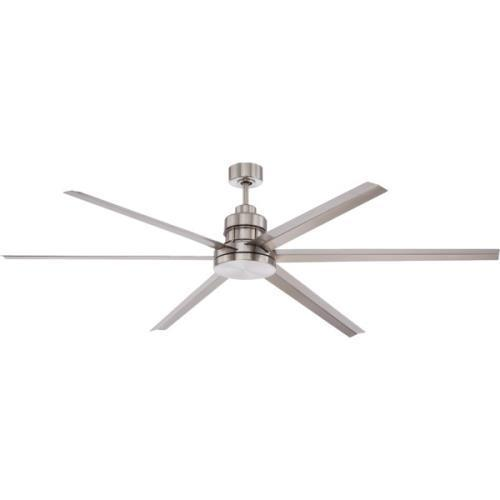 """54"""" Single-Mount Ceiling Fan Brushed Nickel With Remote Control by"""