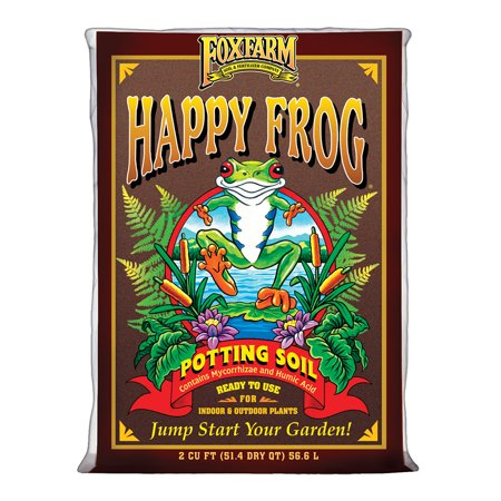 Foxfarm FX14047 pH Adjusted Happy Frog Potting Soil Mix 2 Cubic Feet