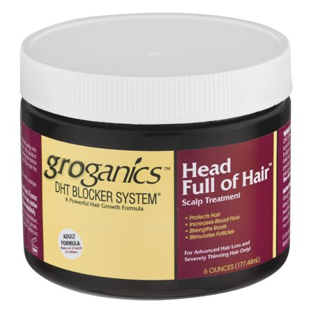 Groganics DHT Blocker System Head Full Of Hair Scalp Treatment, 6.0 OZ