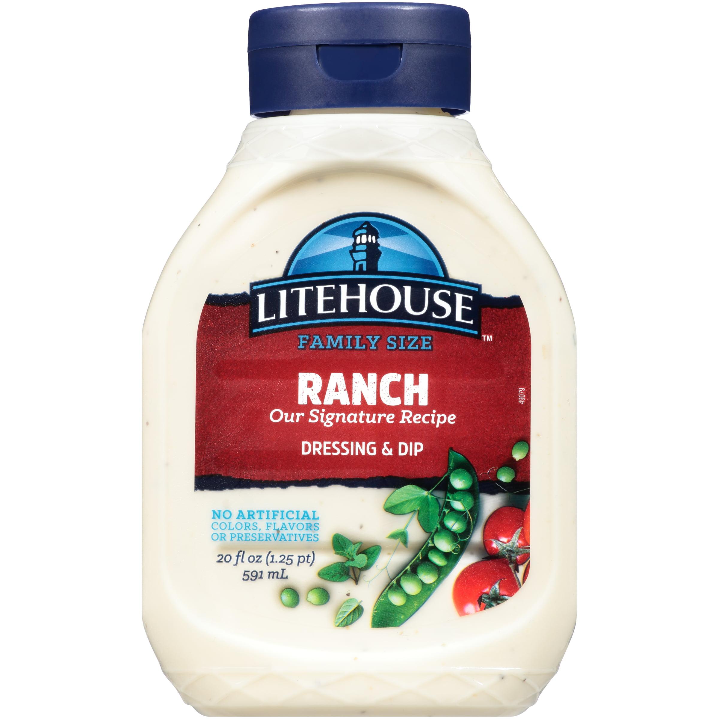 Litehouse Signature Recipe Ranch Dressing & Dip 20 Oz Plastic Bottle
