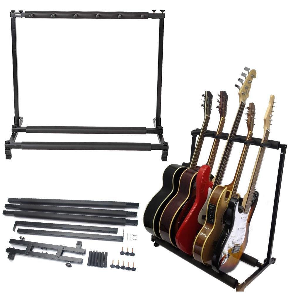 Ktaxon 3 5 7 9 Triple Folding Multiple Guitar Bass Holder Rack Stand