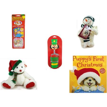 Christmas Fun Gift Bundle [5 Piece] - Xmas Ornamentbooks: 3 Kings, Angel Get Her Wings - Woodniks