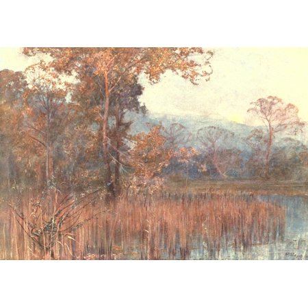 Art of Landscape Painting in Oil Colour 1908 Misty Moonrise Canvas Art - Alfred East (24 x 36)