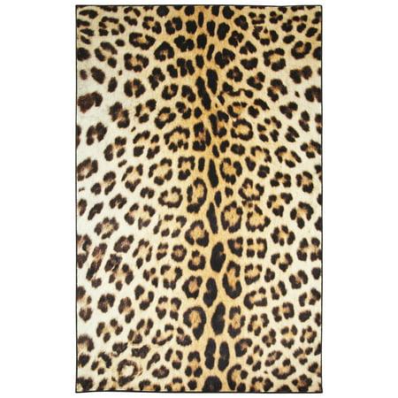 Mohawk Prismatic Area Rugs - Z0341 A440 Contemporary Peru Animal Skin Leopard Leopard Print Spotted Rug