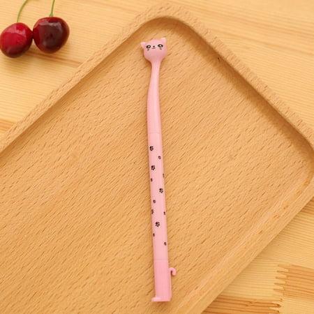 Brand New Kawaii Cartoon Cat Pen 0.5MM Black Ink Gel Pen Ballpoint Pen for Writing - image 3 de 4