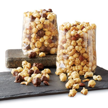 Moose Munch Premium Popcorn Tin Duo by Harry & David, Classic Caramel and Milk Chocolate (2-Pack)](Halloween Caramel Popcorn Recipe)