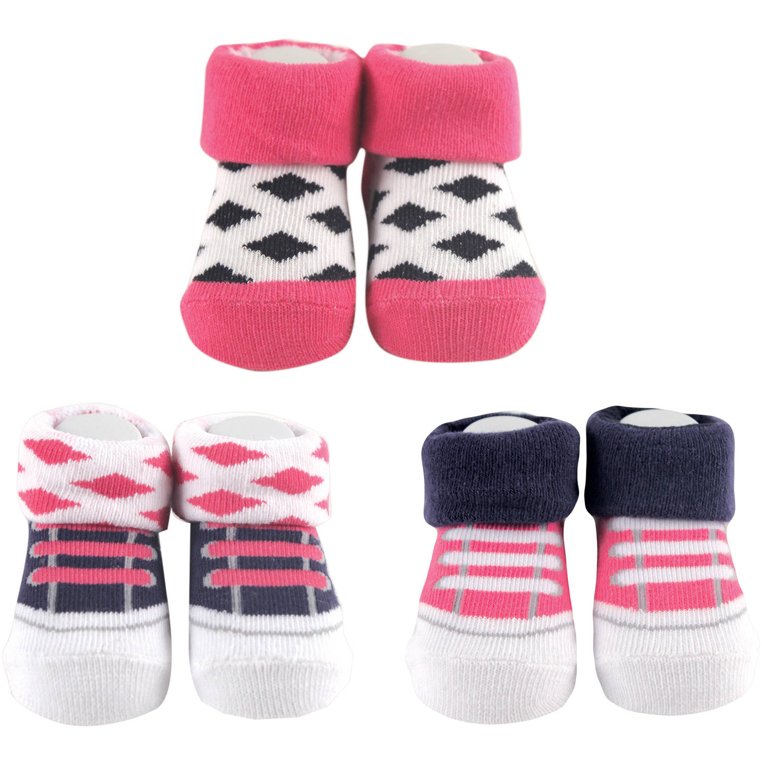 Yoga Sprout Newborn Baby Girl Socks 3-Piece Giftset