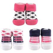 Newborn Baby Girl Socks 3-Piece Giftset