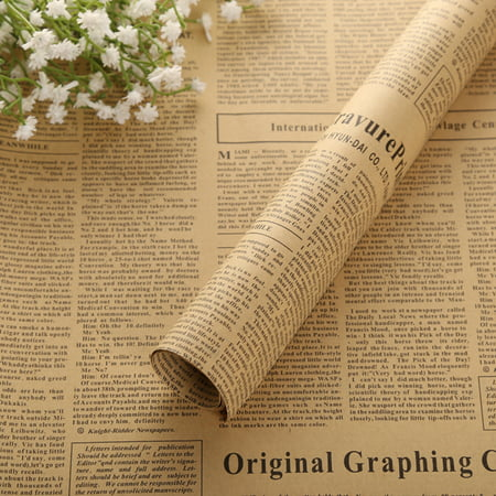 Holiday Clearance 10pcs Newspaper Wrap Paper Double Sided Party Gift Flower Wrap Decor Kraft Paper