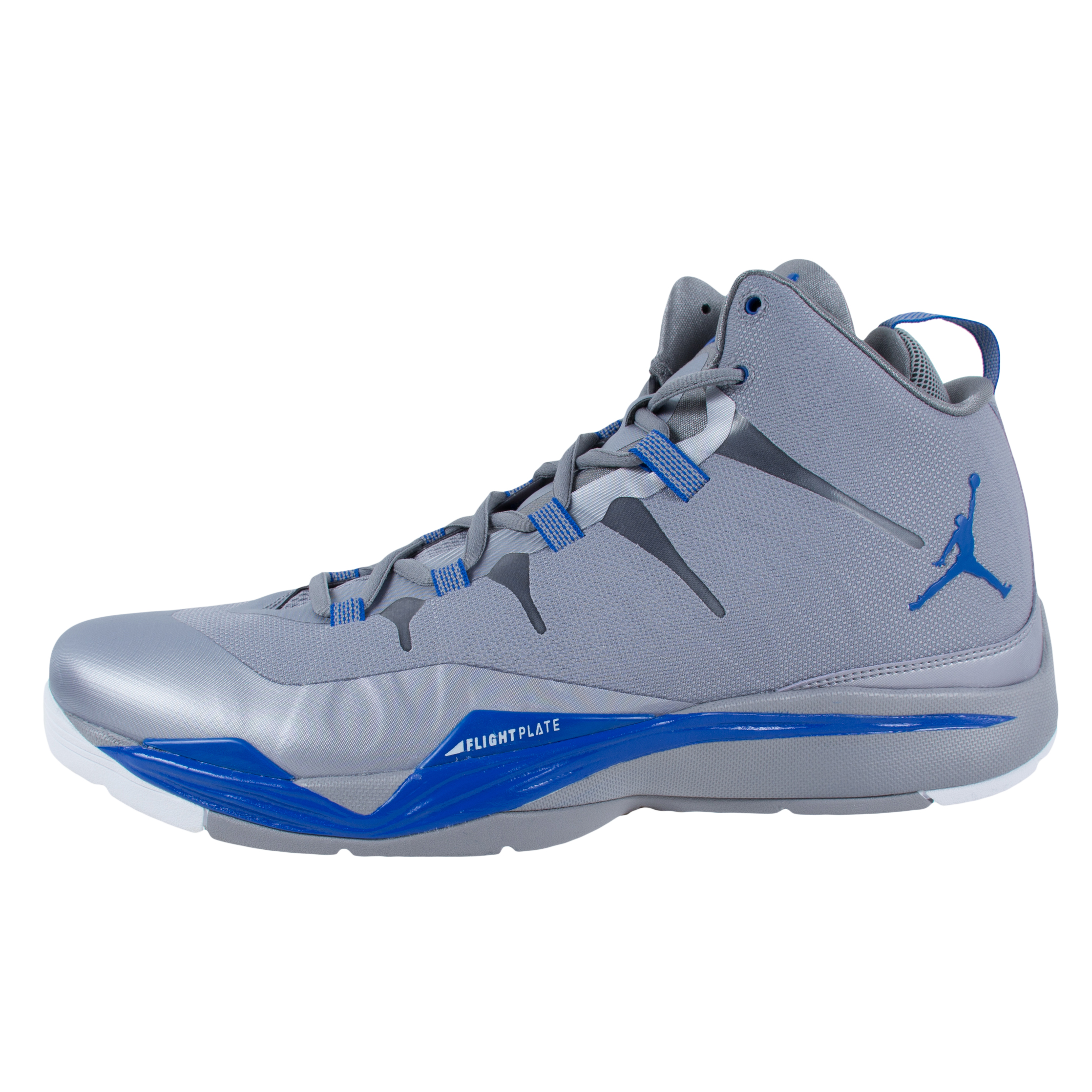 hot sale online 1f3e1 957c2 ... promo code for nike jordan super.fly 2 basketball shoes cement grey  blue 599945 007