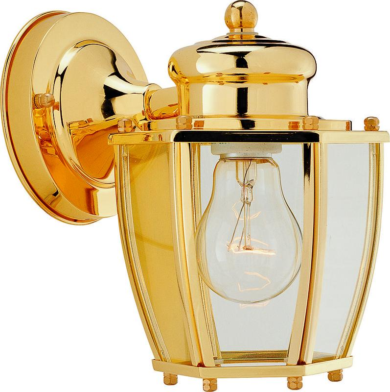 Boston Harbor HV-66961-PB Lantern Porch Light Fixture, Medium, 60 W, 1 Lamp by Boston Harbor