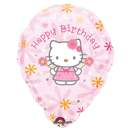 Personalized Hello Kitty (Hello Kitty Birthday Floral Personalized 2pc 18