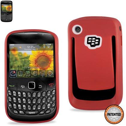 Blackberry Curve Belt Clip - Belt Clip Polymer Case For Blackberry Curve 8530 Red