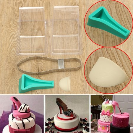 fondant cake template mould high heel shoe silicone mold decorating