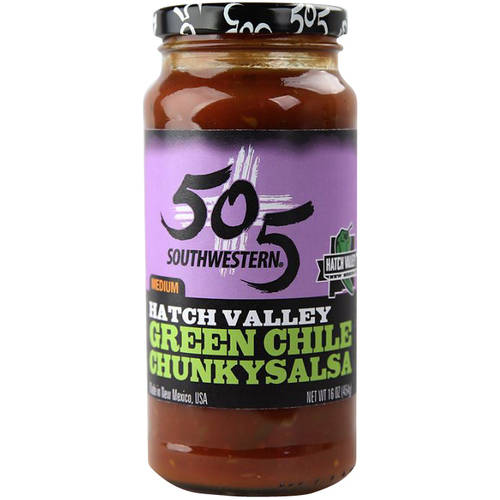 Image of 505 Southwestern Medium Hatch Valley Green Chile Chunky Salsa, 16 oz