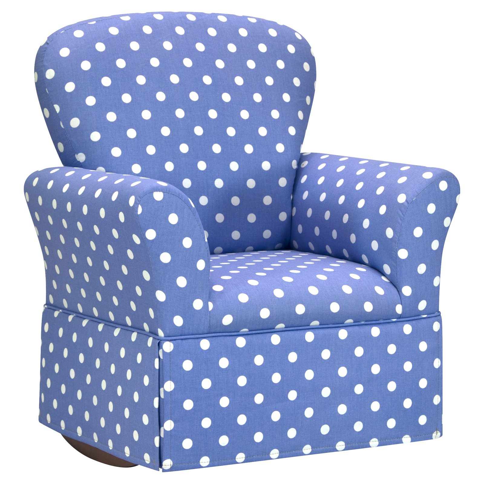 Kidz World Polka Dots - Lilac with White Skirted Rocker