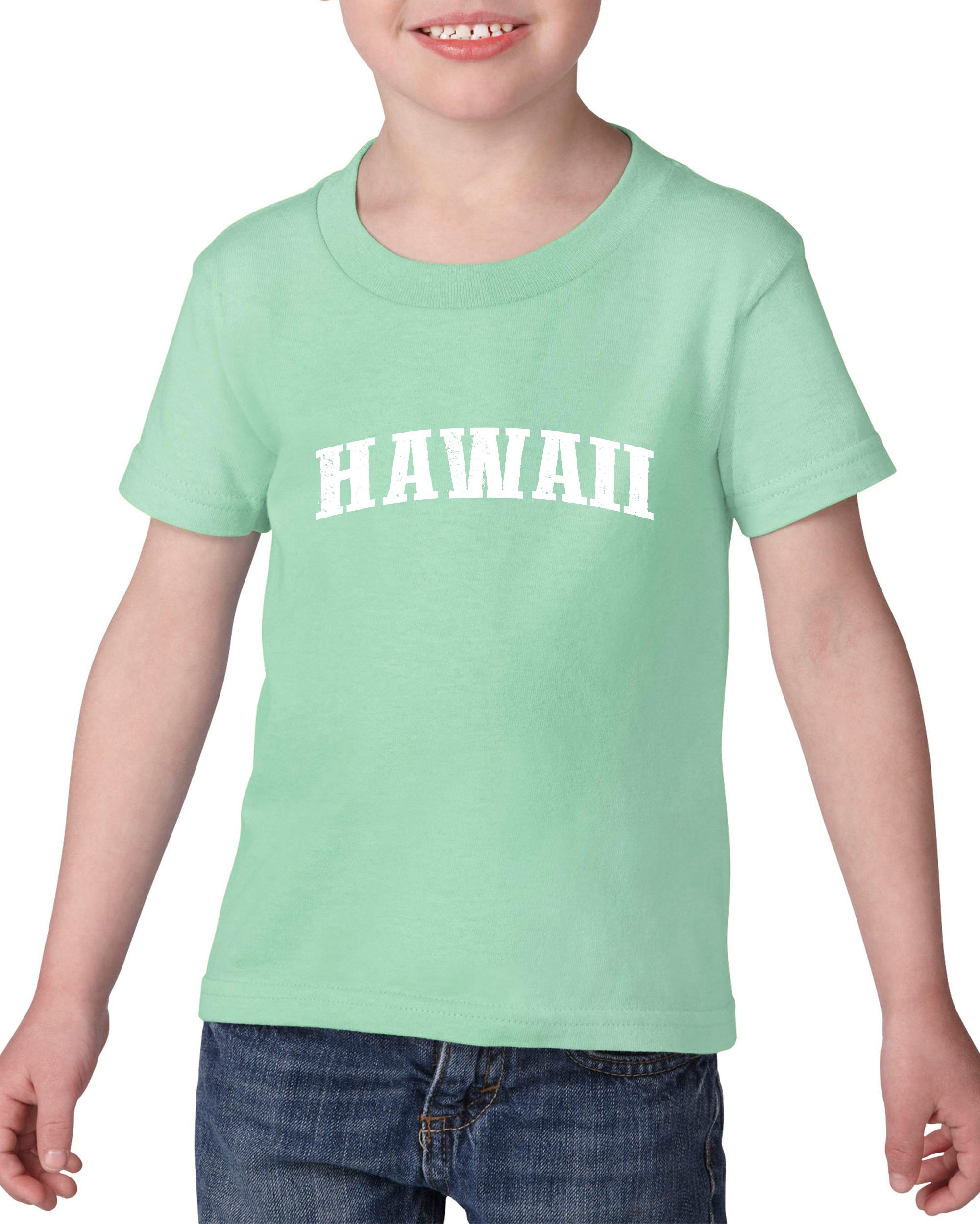 Artix HI Hawaii Map Honolulu Maui Aloha Flag Home of University of Hawaii UH  Heavy Cotton Toddler Kids T-Shirt Tee Clothing