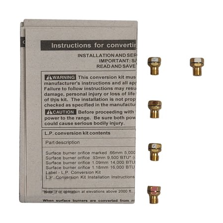 316542418 Kenmore Range Lp Conversion Kit