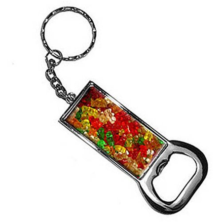 gummy gummi bears keychain key chain ring bottle bottlecap opener. Black Bedroom Furniture Sets. Home Design Ideas