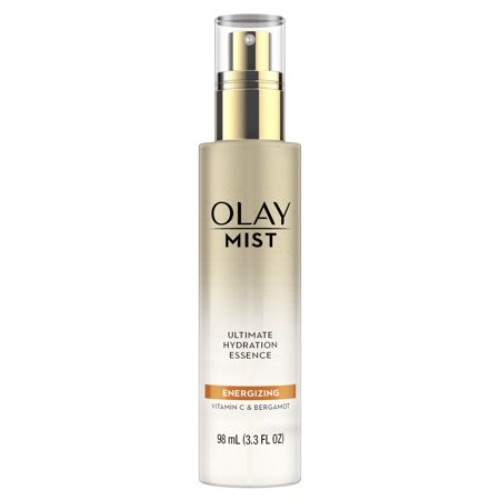 Night Essence - Olay Energizing Facial Mist with Vitamin C & Bergamot, 3.3 fl oz