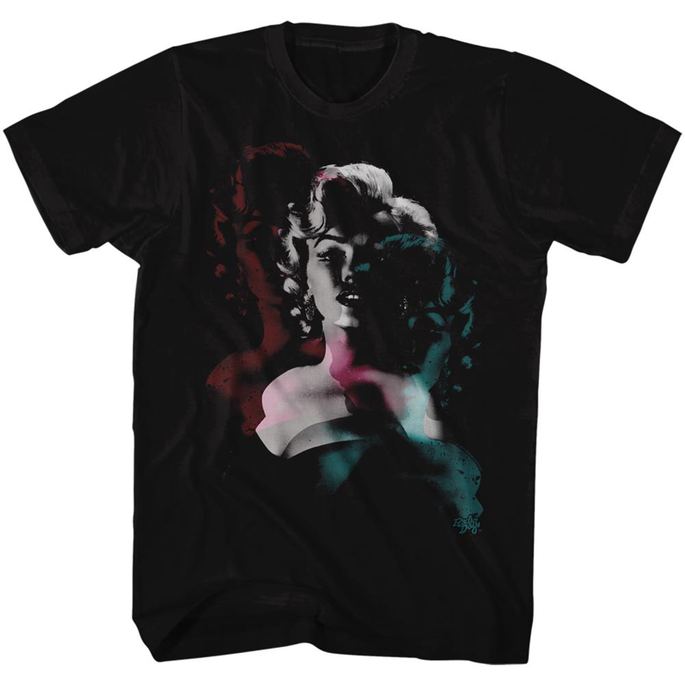 Marilyn Monroe Men's  Tripps T-shirt Black