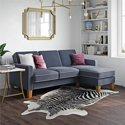 Novogratz Bowen Sectional Sofa with Contrast Welting