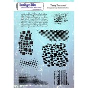 """IndigoBlu Cling Mounted Stamp, 8"""" x 5.5"""", Tasty Textures"""