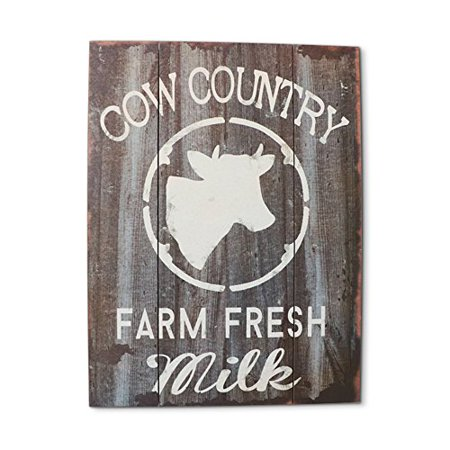 Barnyard Designs Cow Country Fresh Milk Retro Vintage Wood Plaque Bar Sign Country Home Decor 15 75   X 11 75