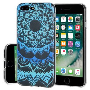 iPhone 7 Plus Case, Soft Gel Clear TPU Back Case Impact Defender Skin Cover for iPhone 7 Plus - Mandala Ocean