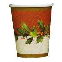 Holiday Party Themes (Holiday Party Cups - Holly Berry Theme Paper Cups - 8)