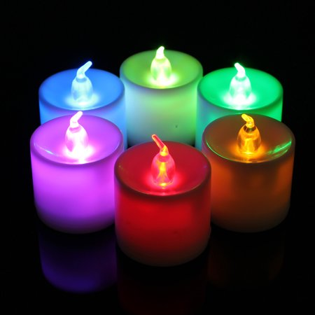 LED color changing led lamp Flamless Flickering Flicker Tealight Candles Battery Operated Wedding LightCandle Light Flicker Flameless LED Tealight Tea Candles - Battery Operated Tealights
