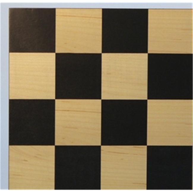 WW Chess 50400BC Black-Maple Veneer Board