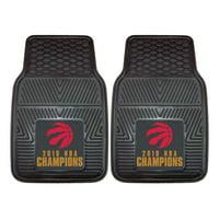 Toronto Raptors 2019 NBA Finals Champions Two-Piece Vinyl Car Mat Set