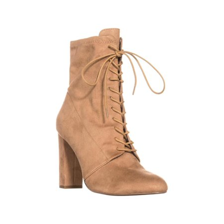 e809aeee930 Womens Steve Madden Elley High Top Lace Up Ankle Boots, Camel, 8.5 US