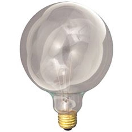 Satco Incandescent Decorative Lamp G40, 40 Watt, 120 Volt, Medium Base, Clear, 4,000 Average Rated Hours, 6 Per Box 120 Volt A23 Medium Base