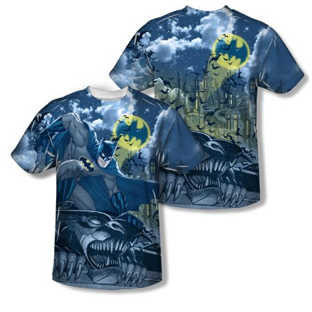 Batman Men's  Gotham Gargoyle Sublimation T-shirt - Gargoyle Apparel